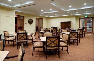 Asturias Senior Apartments  common dining room